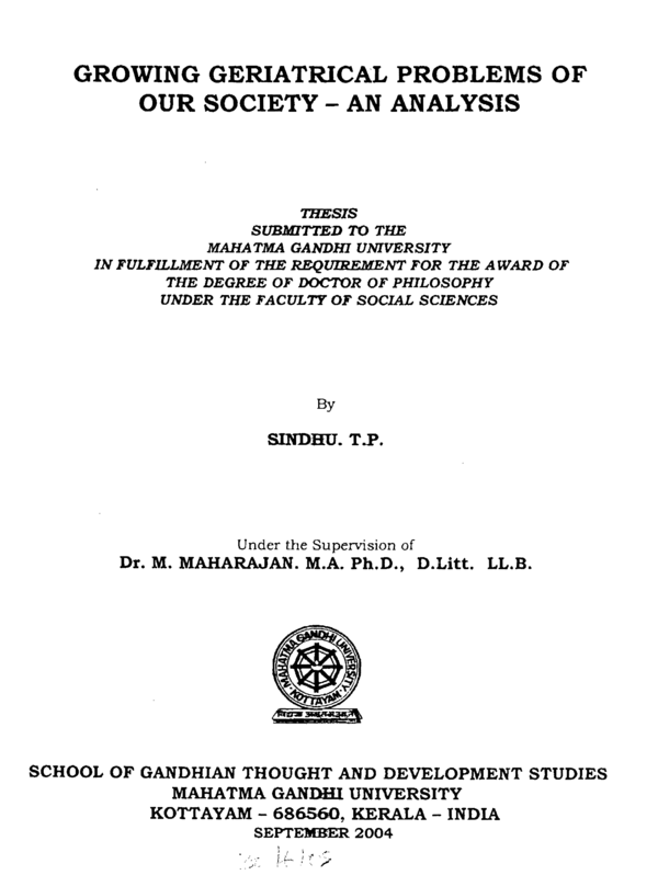 mahatma gandhi university kottayam phd thesis