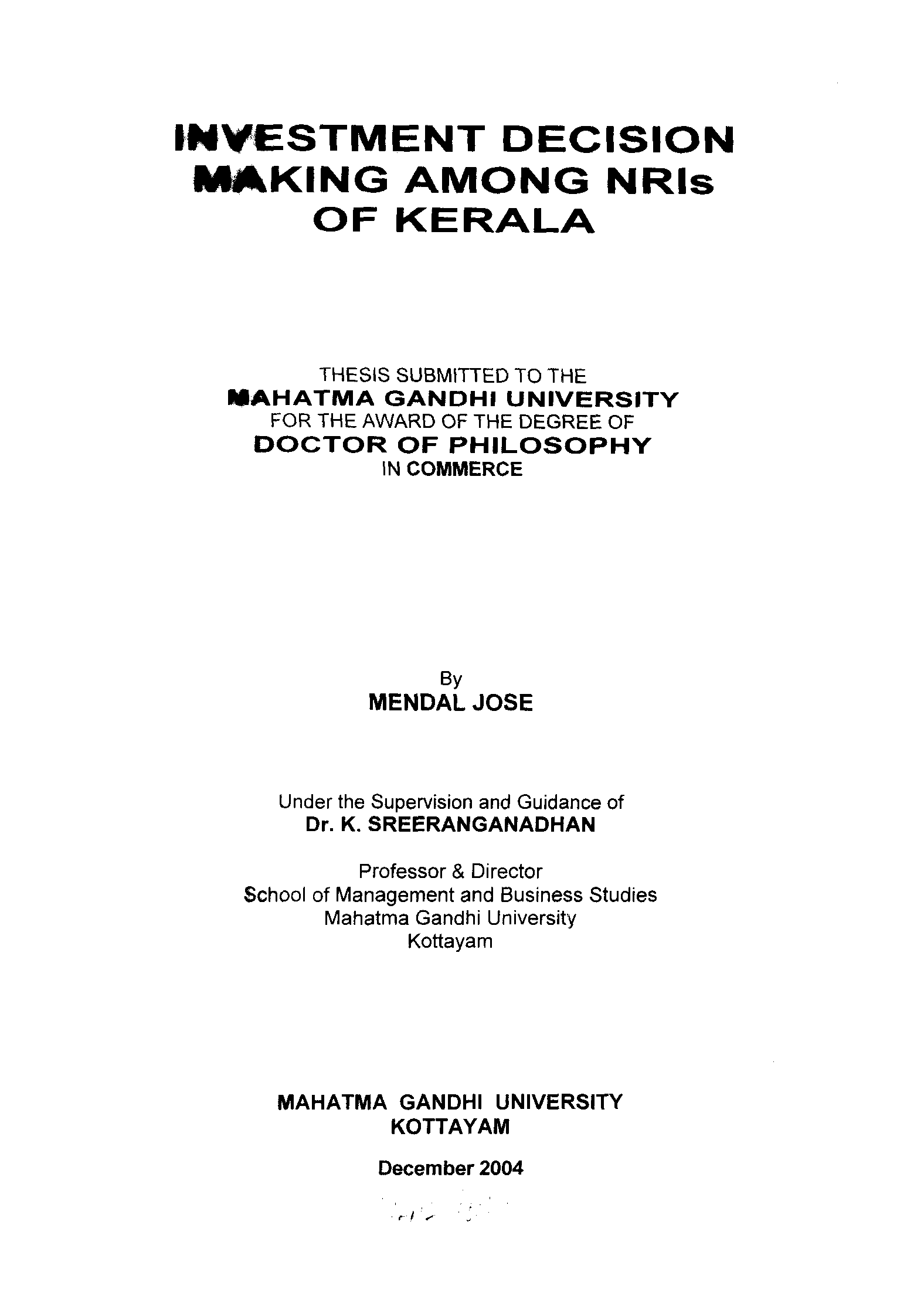 mgu thesis commerce