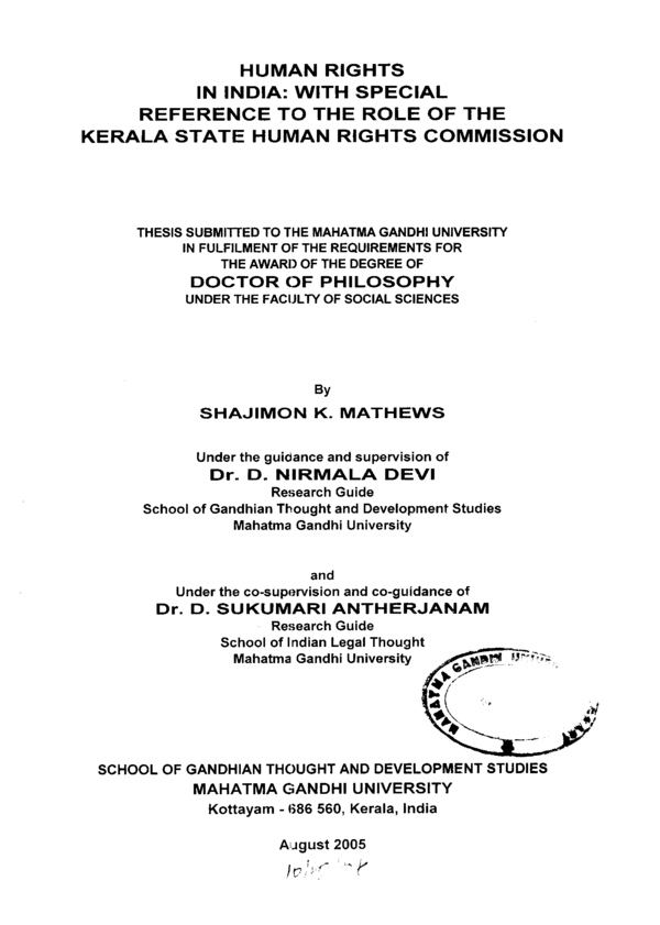 Thesis on human rights pdf