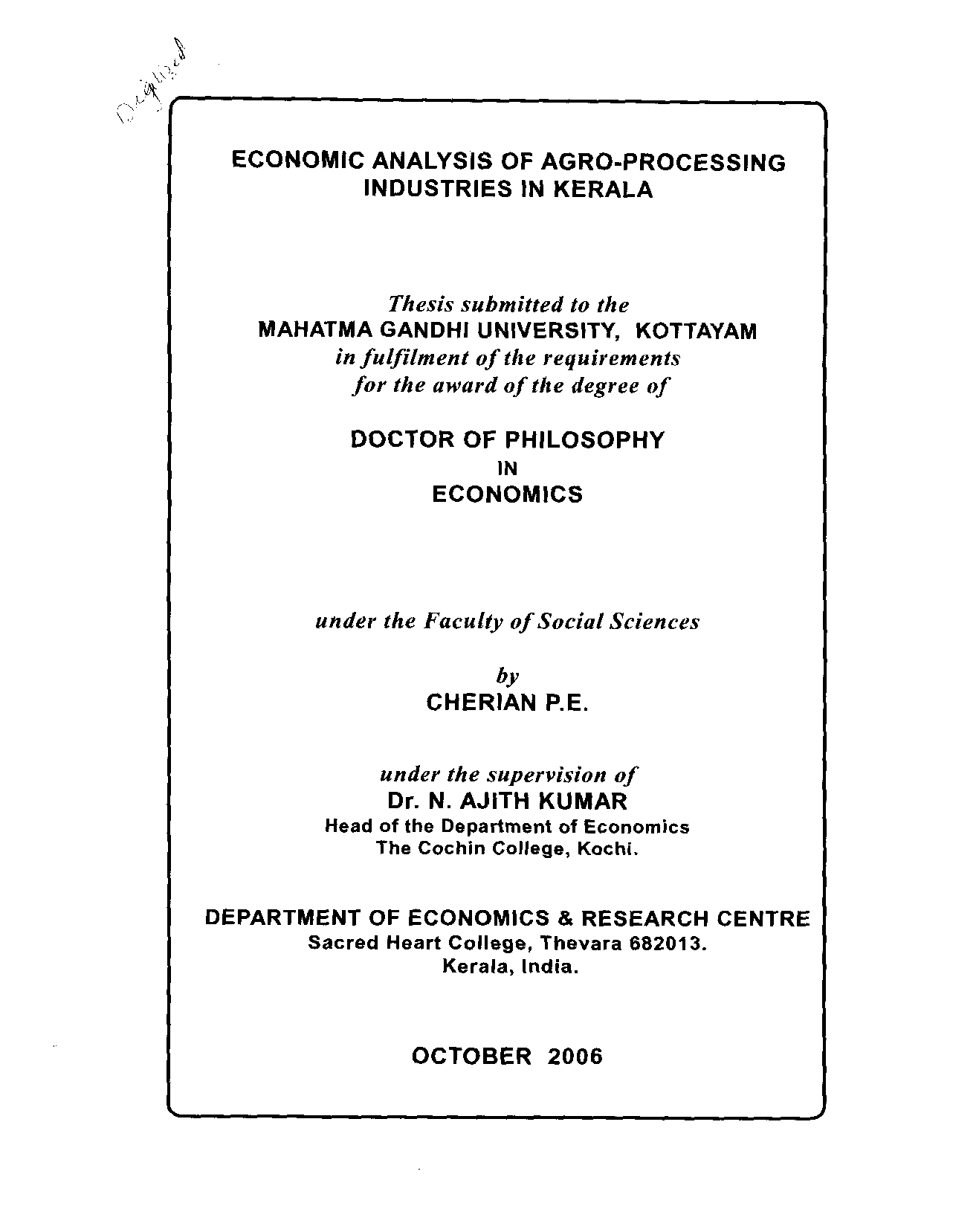 mgu thesis economics