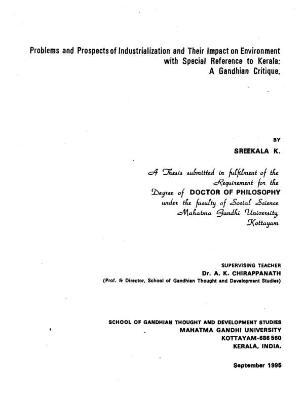 thesis on small scale industries in india