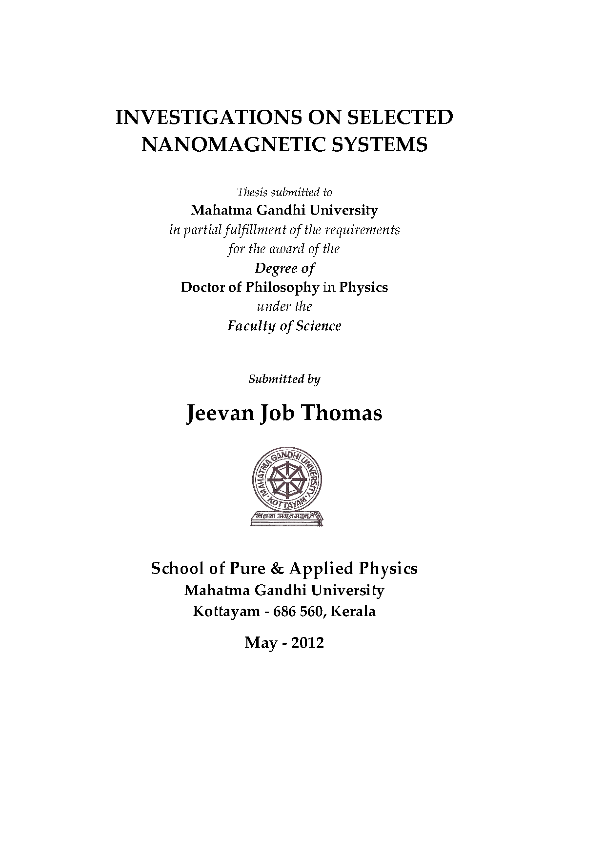 university of trento phd thesis Etusivu